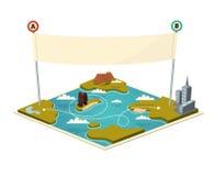 Mapa con la bandera Fotografía de archivo libre de regalías