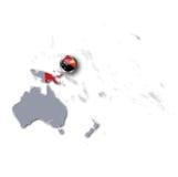 Mapa con Papúa Nueva Guinea stock de ilustración