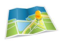 Mapa, ícone Imagem de Stock Royalty Free