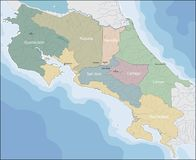 Mapa Costa Rica zdjęcie stock