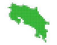 Mapa Costa Rica ilustracji