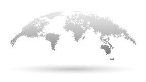 Mapa creativo del globo 3D en estilo del Grunge Ilustración del Vector