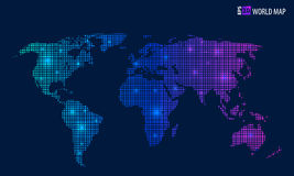 Mapa criativo abstrato do vetor do conceito do mundo para a Web e aplicações móveis isolado no fundo Vetor Fotografia de Stock Royalty Free