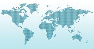 mapa cyfrowy świat Fotografia Stock