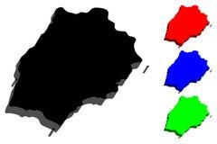 mapa 3D de St. Helena