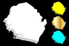 mapa 3D del Sierra Leone