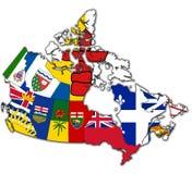 Mapa da administração de Canadá Fotos de Stock