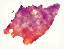 Mapa da aquarela da região de Wellington de Nova Zelândia na frente de ilustração stock
