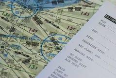 Mapa da aviação Imagens de Stock