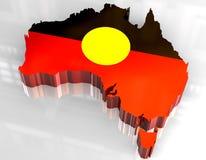 mapa da bandeira 3d de aborígene australiano Fotos de Stock