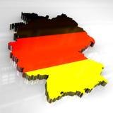 mapa da bandeira 3d de Alemanha Fotografia de Stock Royalty Free