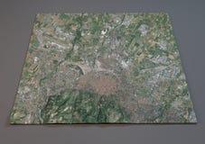 Mapa da Bolonha, Itália, vista satélite Foto de Stock Royalty Free