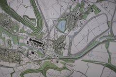 Mapa da cidade Fotos de Stock