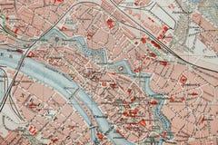 Mapa da cidade Imagens de Stock Royalty Free