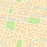 Mapa da cidade Foto de Stock Royalty Free