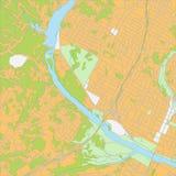 Mapa da cidade Fotografia de Stock Royalty Free