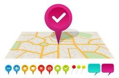 Mapa da cidade com etiquetas Foto de Stock