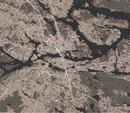 Mapa da cidade de Éstocolmo, Suécia ilustração stock