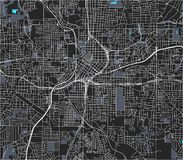 Mapa da cidade de Atlanta, EUA foto de stock
