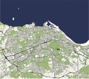 Mapa da cidade de Edimburgo, Escócia, Reino Unido ilustração stock