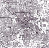 Mapa da cidade de Houston, U S Estado de Texas, EUA ilustração do vetor