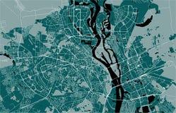 Mapa da cidade de Kiev, Ucrânia ilustração do vetor