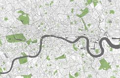 Mapa da cidade de Londres, Grâ Bretanha ilustração do vetor