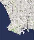 Mapa da cidade de Los Angeles, EUA ilustração royalty free