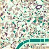 Mapa da cidade de Paris do teste padrão do sumário do fundo do vetor  Fotos de Stock Royalty Free