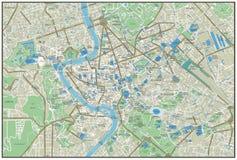 Mapa da cidade de Roma Foto de Stock Royalty Free