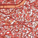 Mapa da cidade do sumário do fundo do vetor  Fotografia de Stock
