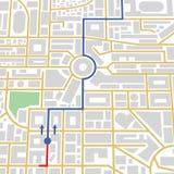 Mapa da cidade nos gps Fotos de Stock