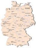 Mapa da estrada de ferro de Alemanha ilustração do vetor