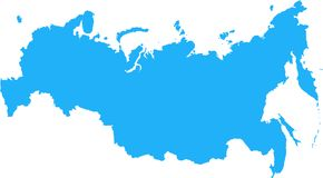 Mapa da Federação Russa Fotografia de Stock