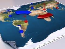 Mapa da guerra Foto de Stock Royalty Free