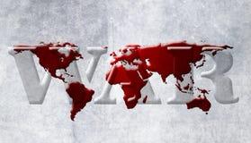 Mapa da guerra de mundo Fotografia de Stock Royalty Free