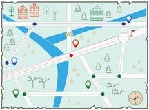 Mapa da ilha do tesouro Fotos de Stock