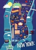 Mapa da ilustração de New York Manhattan ilustração do vetor