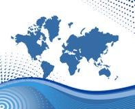 Mapa da ilustração do mundo Fotos de Stock