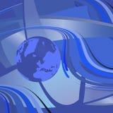 Mapa da ilustração do vetor do mundo Imagem de Stock