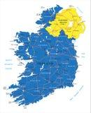 Mapa da Irlanda Ilustração Royalty Free