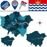 Mapa da mais grande Londres, Reino Unido ilustração stock