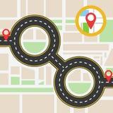 Mapa da navegação Imagem de Stock Royalty Free