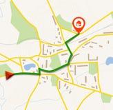 Mapa da navegação com pino ilustração royalty free