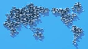 Mapa da nuvem ilustração stock