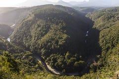 Mapa da opinião da paisagem de África, rota do jardim Fotografia de Stock Royalty Free