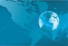 Mapa da palavra do globo da terra Backgr Imagem de Stock