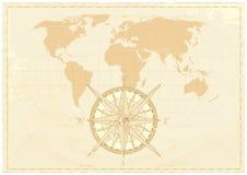 Mapa da palavra do vintage ilustração royalty free