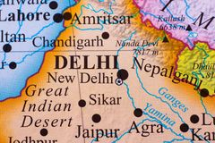 Mapa da parte do sul da Índia fotos de stock