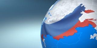 Mapa da Rússia na terra Imagem de Stock Royalty Free